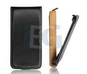 Kožené Flip púzdro pre Iphone 5 5S čierne (Bulk) cd3b8d86cfb